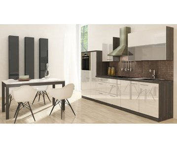 respekta premium k chenzeile hochbau 310 cm eiche grau. Black Bedroom Furniture Sets. Home Design Ideas