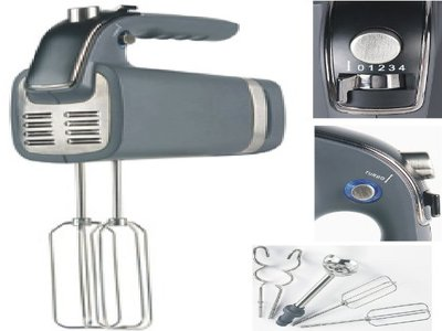 Design Küchen-Rührgerät - Handmixer - Mixerset mit Knethaken Test